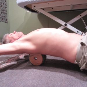 Wood rollers for cracking your back!