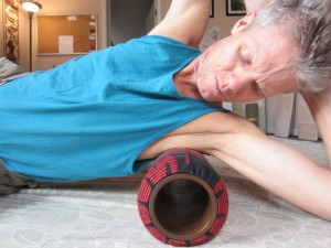 Wooden rollers for tight sore shoulders!