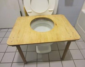 "You'll poop like there's no tomorrow with the ""Bowel Buddy"" squatting toilet platform!"
