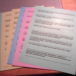 Use heavy colored paper for best Wisdom Paper results.